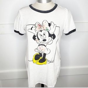 Disney Minnie Mouse faded burnout T-shirt